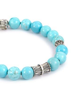 Detail View - Click To Enlarge - Emanuele Bicocchi - Bead silver charm bracelet