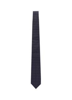 Drake's Geometric print silk tie