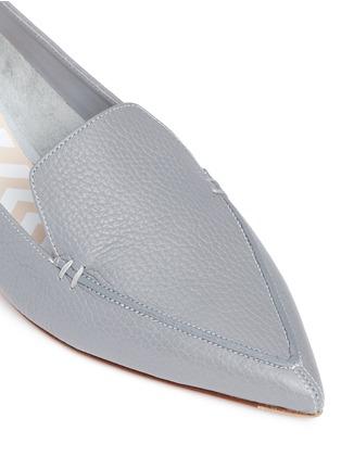 Detail View - Click To Enlarge - Nicholas Kirkwood - 'Beya' metal heel leather skimmer loafers