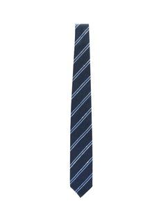 Drake's Stripe silk tie