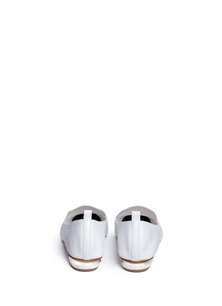Back View - Click To Enlarge - NICHOLAS KIRKWOOD - 'Beya' metal heel leather skimmer loafers