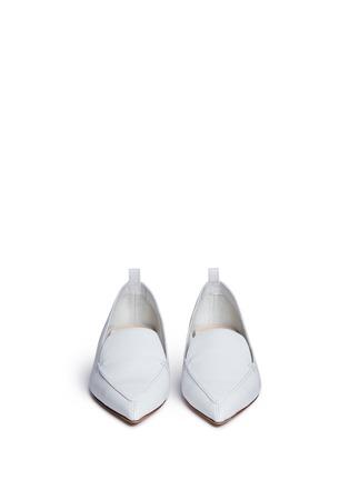 Front View - Click To Enlarge - NICHOLAS KIRKWOOD - 'Beya' metal heel leather skimmer loafers