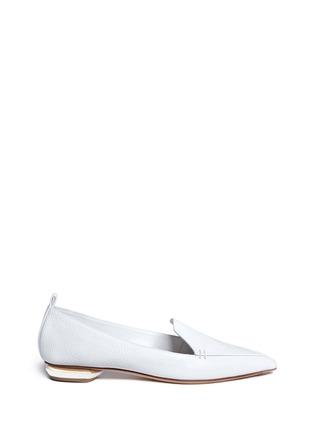 Main View - Click To Enlarge - NICHOLAS KIRKWOOD - 'Beya' metal heel leather skimmer loafers
