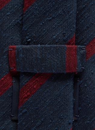 Detail View - Click To Enlarge - DRAKE'S - Stripe silk tie