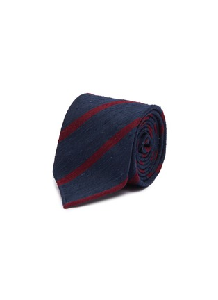 Main View - Click To Enlarge - DRAKE'S - Stripe silk tie