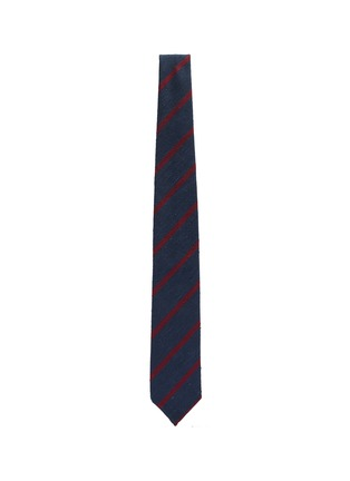 Figure View - Click To Enlarge - DRAKE'S - Stripe silk tie
