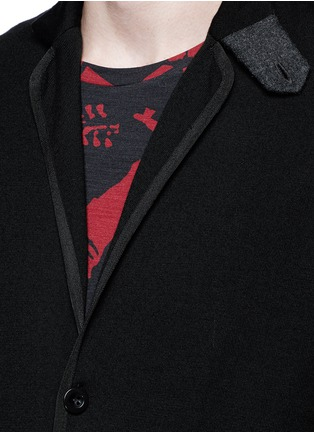 Detail View - Click To Enlarge - Sacai - Notched lapel wool knit jacket