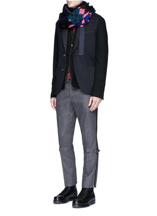 Figure View - Click To Enlarge - Sacai - Notched lapel wool knit jacket