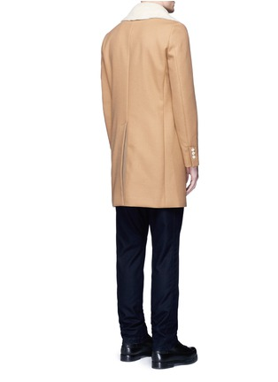 Back View - Click To Enlarge - Sacai - Shearling underlay wool military coat