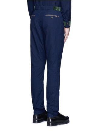 Back View - Click To Enlarge - Sacai - Velvet trim cotton pants