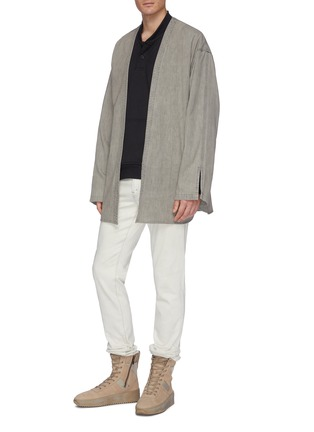 Figure View - Click To Enlarge - FEAR OF GOD - Belted denim kimono jacket
