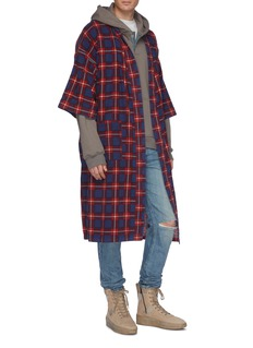 Fear of God Belted tartan plaid flannel robe coat