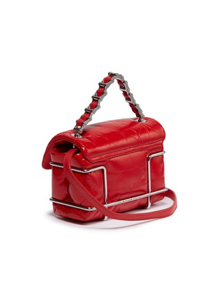 Detail View - Click To Enlarge - ALEXANDER WANG - 'Halo' metal cage quilted leather mini shoulder bag