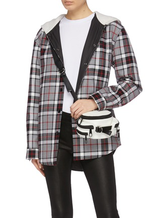 Figure View - Click To Enlarge - ALEXANDERWANG - 'Tourist' micro side pocket leather bum bag