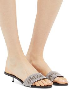 Alexander Wang  'Jo' glass crystal logo sandals