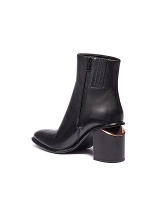 Detail View - Click To Enlarge - alexanderwang - 'Anna' cutout heel leather ankle boots