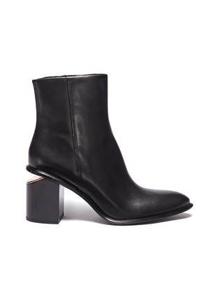 Main View - Click To Enlarge - alexanderwang - 'Anna' cutout heel leather ankle boots