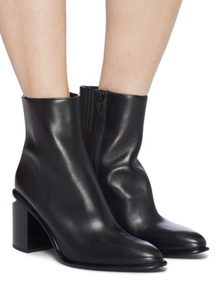 Figure View - Click To Enlarge - alexanderwang - 'Anna' cutout heel leather ankle boots