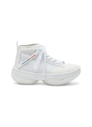 Main View - Click To Enlarge - ALEXANDER WANG - 'a1' chunky outsole mesh mid top sneakers