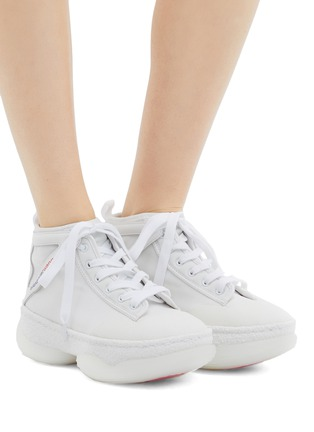 Figure View - Click To Enlarge - ALEXANDER WANG - 'a1' chunky outsole mesh mid top sneakers
