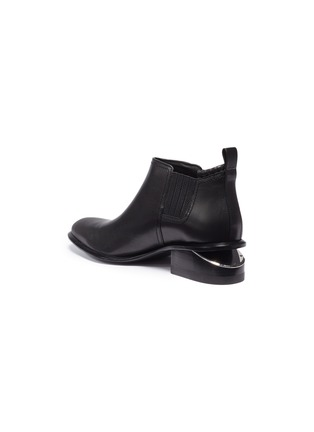 Detail View - Click To Enlarge - ALEXANDER WANG - 'Kori' cutout heel leather Chelsea boots