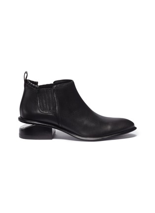 Main View - Click To Enlarge - ALEXANDER WANG - 'Kori' cutout heel leather Chelsea boots