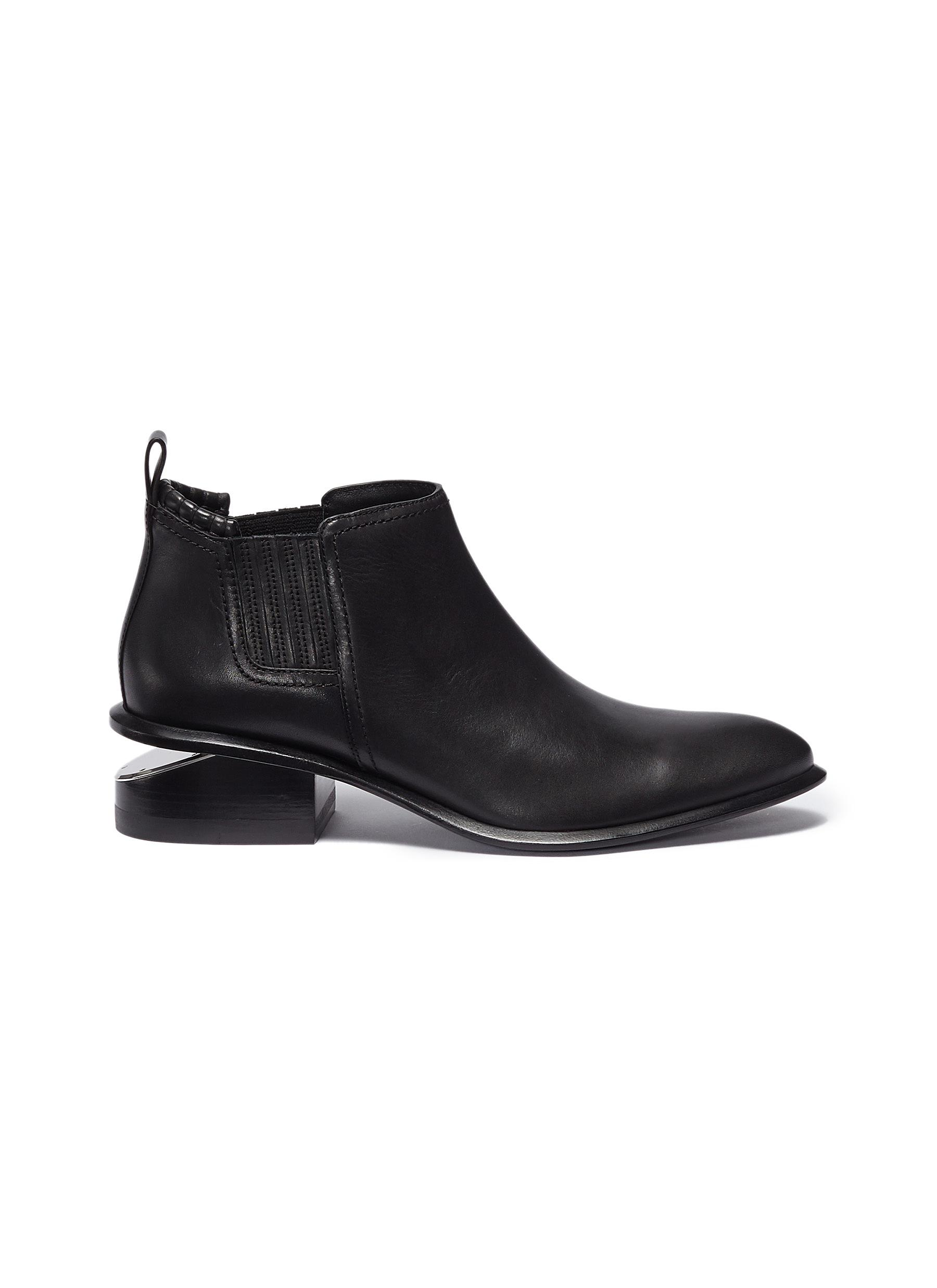 Kori cutout heel leather Chelsea boots by Alexanderwang
