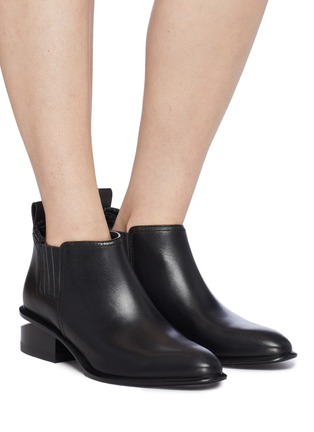 Figure View - Click To Enlarge - ALEXANDER WANG - 'Kori' cutout heel leather Chelsea boots