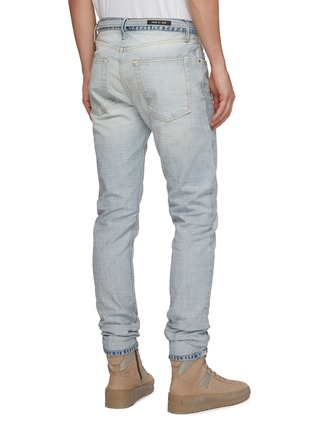 Back View - Click To Enlarge - FEAR OF GOD - Belted slim fit jeans