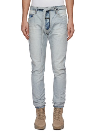 Main View - Click To Enlarge - FEAR OF GOD - Belted slim fit jeans