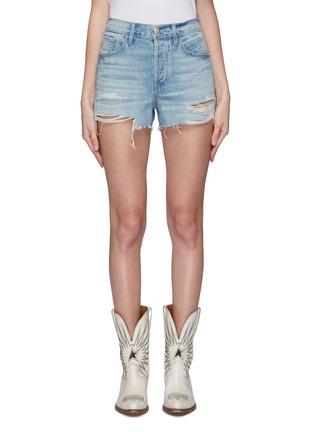 Main View - Click To Enlarge - 3X1 - 'Mason' distressed denim shorts