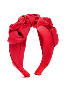 Jennifer Behr 'Triple Rosette' faille headband