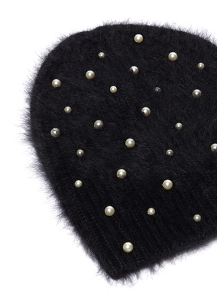 Detail View - Click To Enlarge - Jennifer Behr - 'Margaux' Swarovski pearl beanie