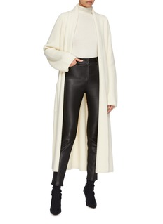 The Row 'Tappi' belted cashmere long open cardigan