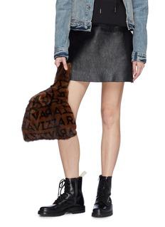 Simonetta Ravizza 'Furrissima' logo print mink fur sac bag
