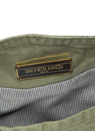 Detail View - Click To Enlarge - Simonetta Ravizza - ''Furrissima' mink trim denim sac bag