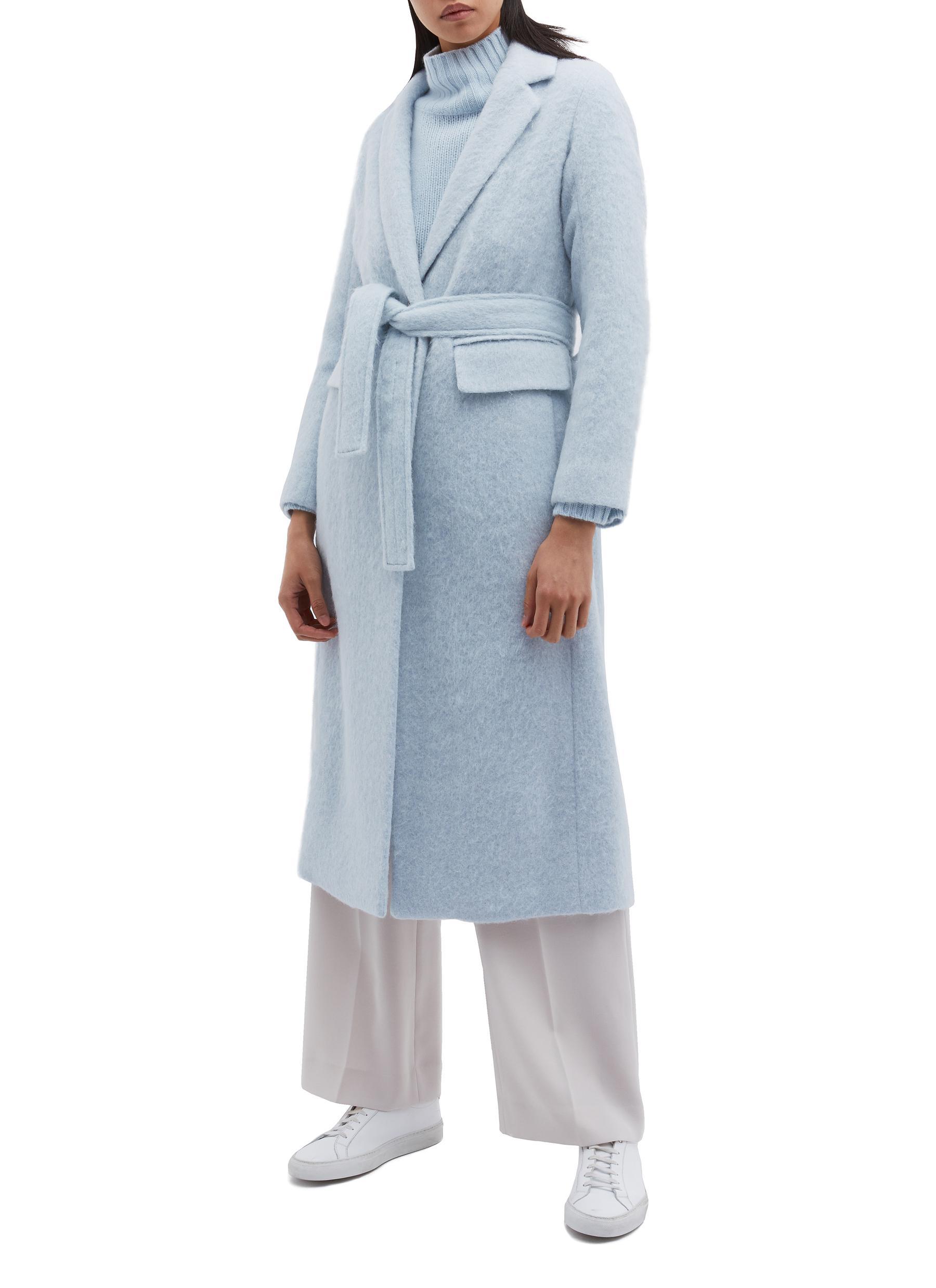 Belted brushed coat by Vince
