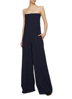 The Row 'Liu' strapless virgin wool wide leg jumpsuit