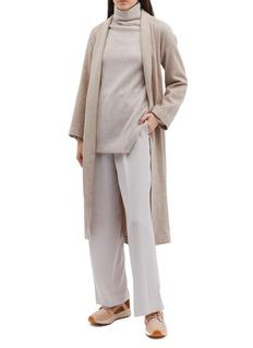 Vince Belted wool-blend melton coat