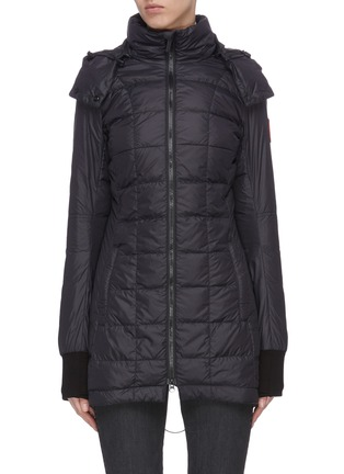 Main View - Click To Enlarge - CANADA GOOSE - 'Ellison' logo patch puffer nylon jacket