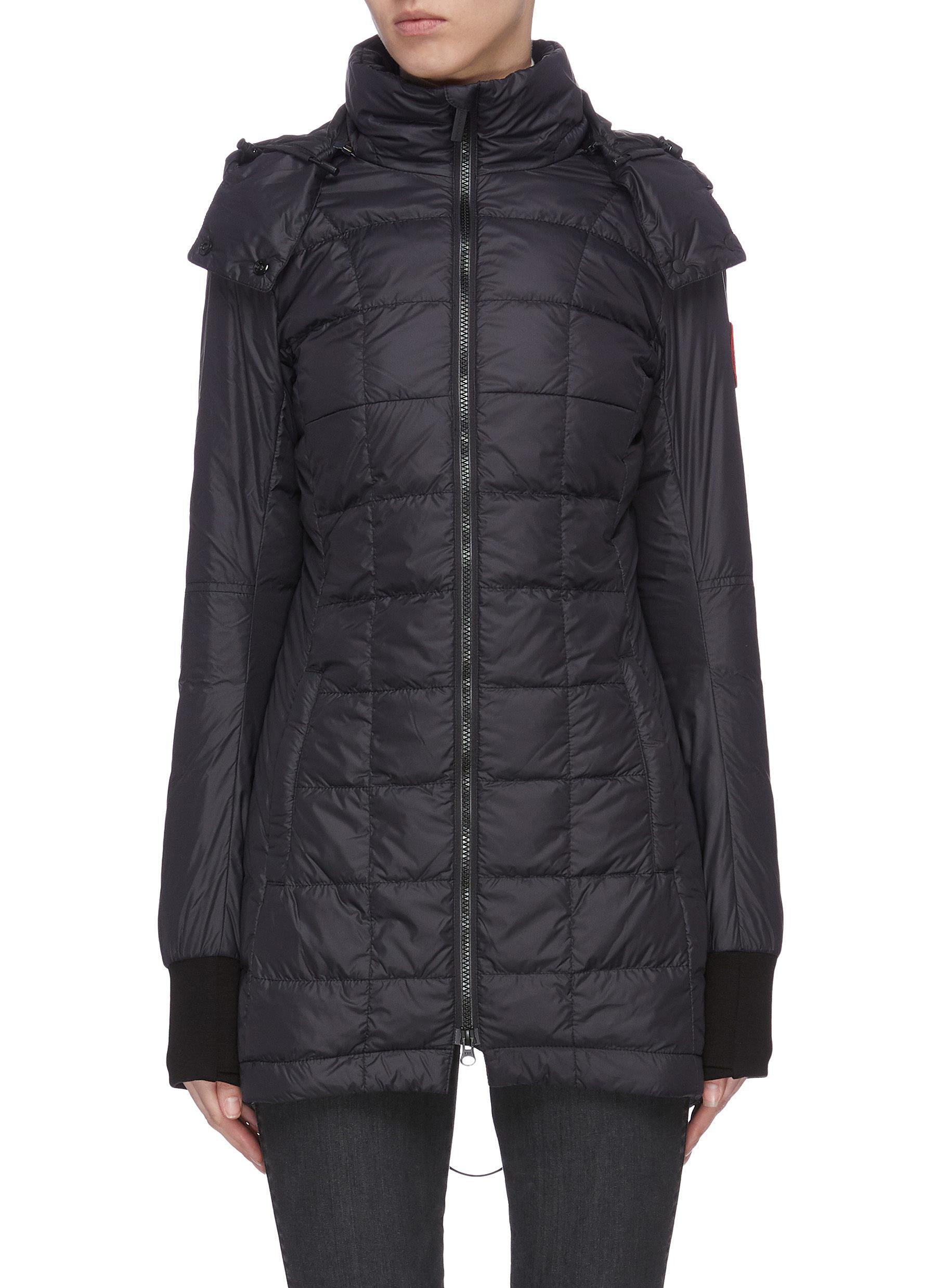 shop Canada Goose 'Ellison' logo patch puffer nylon jacket online