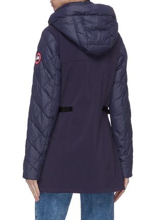 Back View - Click To Enlarge - CANADA GOOSE - 'Berkley' puffed zip down coat