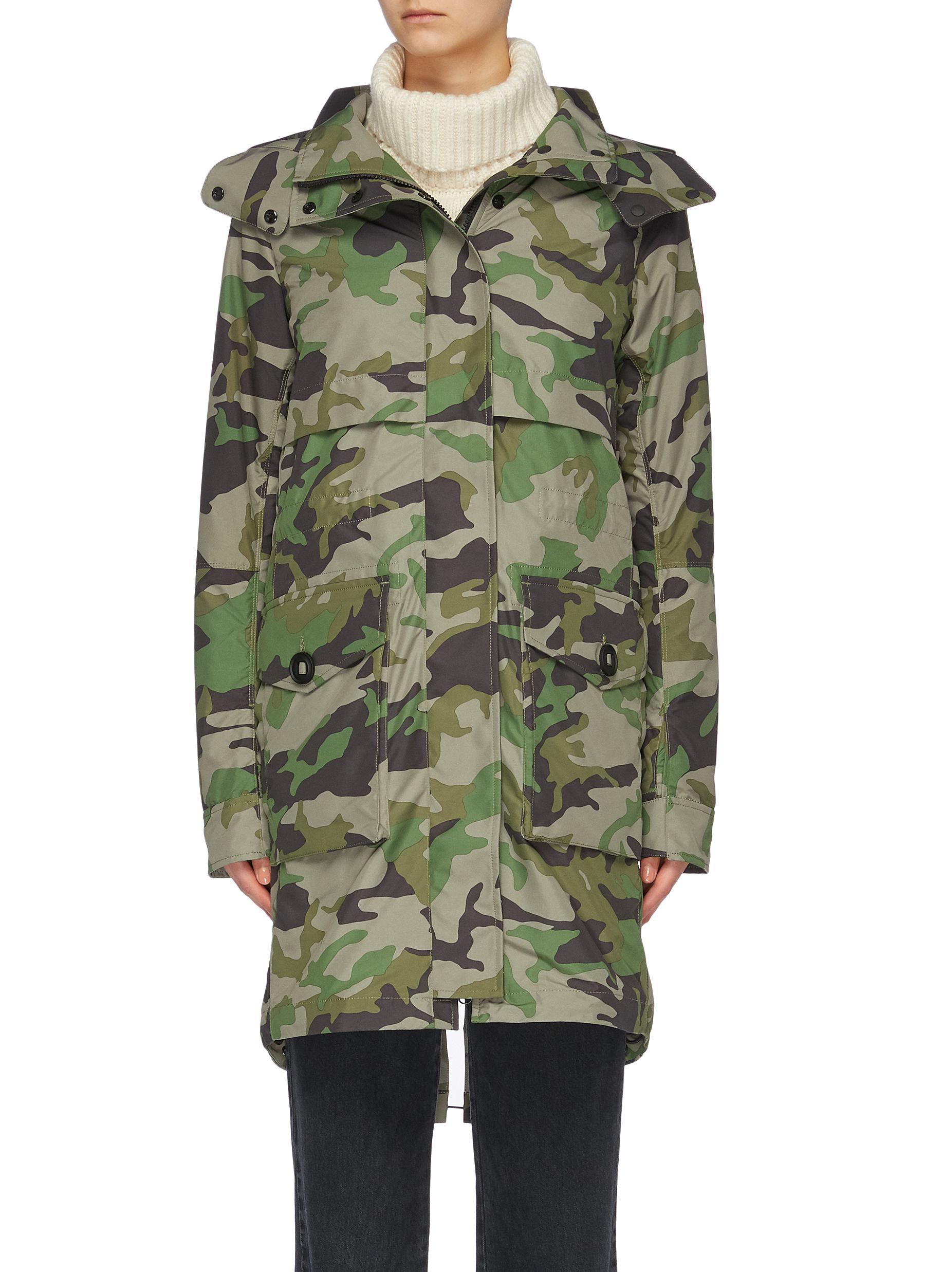 shop Canada Goose 'Cavalry' detachable hood camouflage print windproof trench coat online