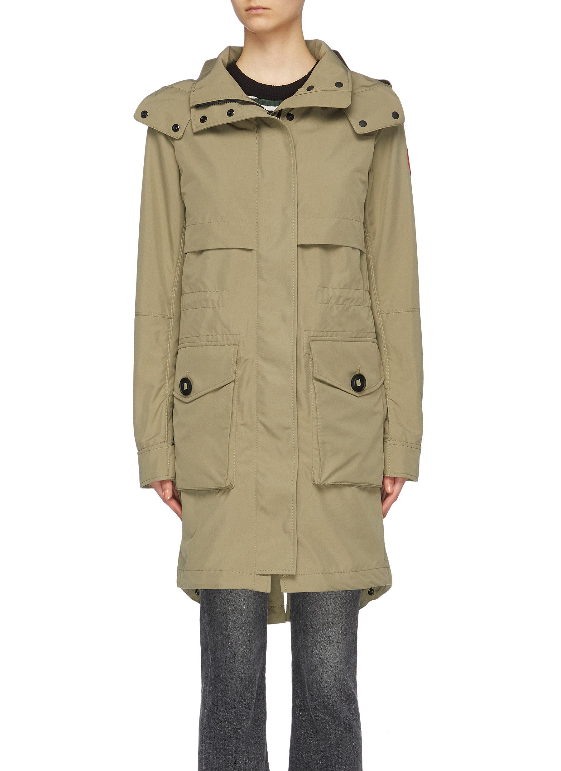 Cavalry detachable hood windproof trench coat by Canada Goose