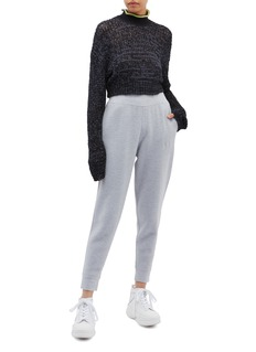 T By Alexander Wang Open knit cropped high neck sweater