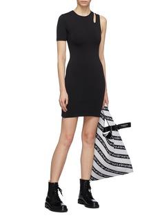 T By Alexander Wang Asymmetric cutout shoulder dress