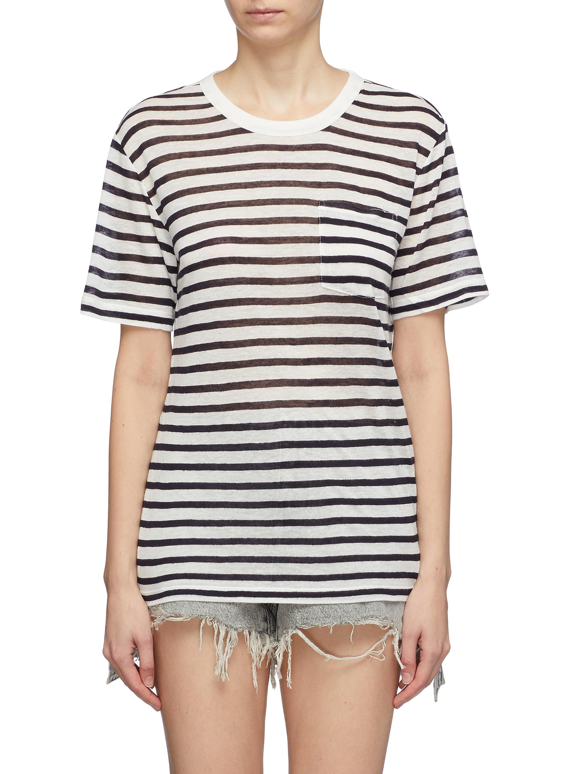 b863383d9aaa alexanderwang.t. Chest pocket stripe slub jersey T-shirt