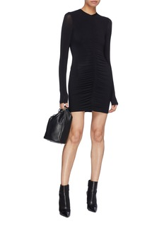 T By Alexander Wang Ruched long sleeve dress