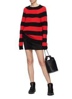 T By Alexander Wang Rugby stripe wool blend sweater