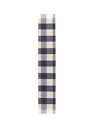 Main View - Click To Enlarge - JOHNSTONS OF ELGIN - Tartan plaid oversized cashmere scarf